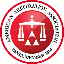AAA Arbitration 2016 Panel Member