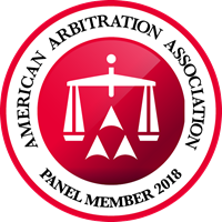 AAA Arbitration 2018 Panel Member